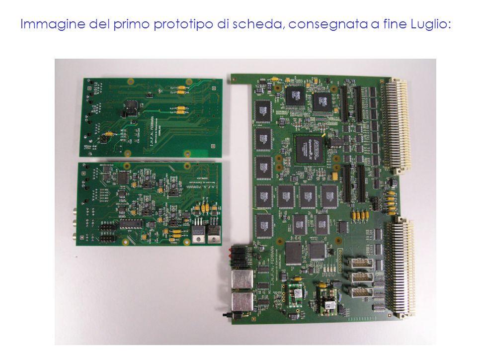 Immagine del primo prototipo di scheda, consegnata a fine Luglio: