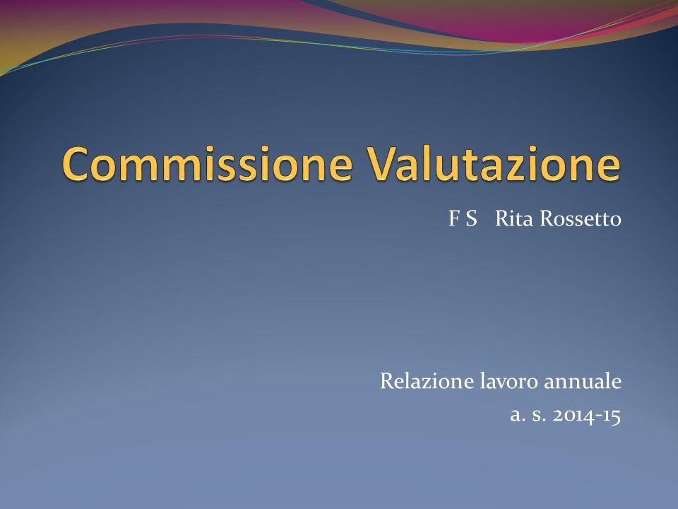 F S Rita Rossetto Relazione lavoro annuale a. s. 2014-15
