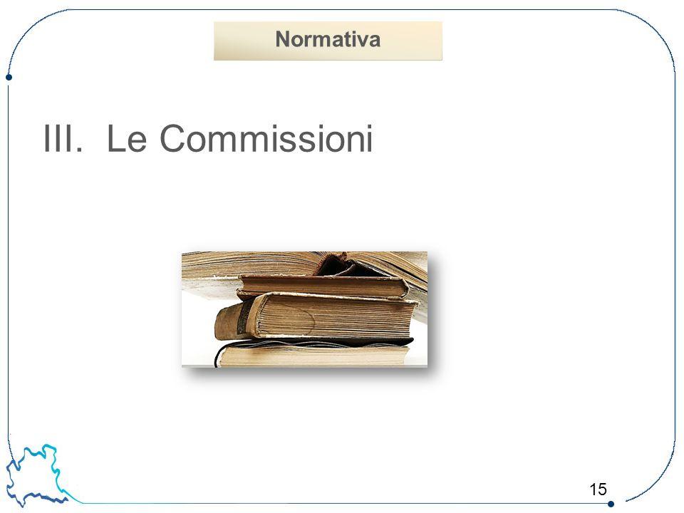 15 III.Le Commissioni Normativa