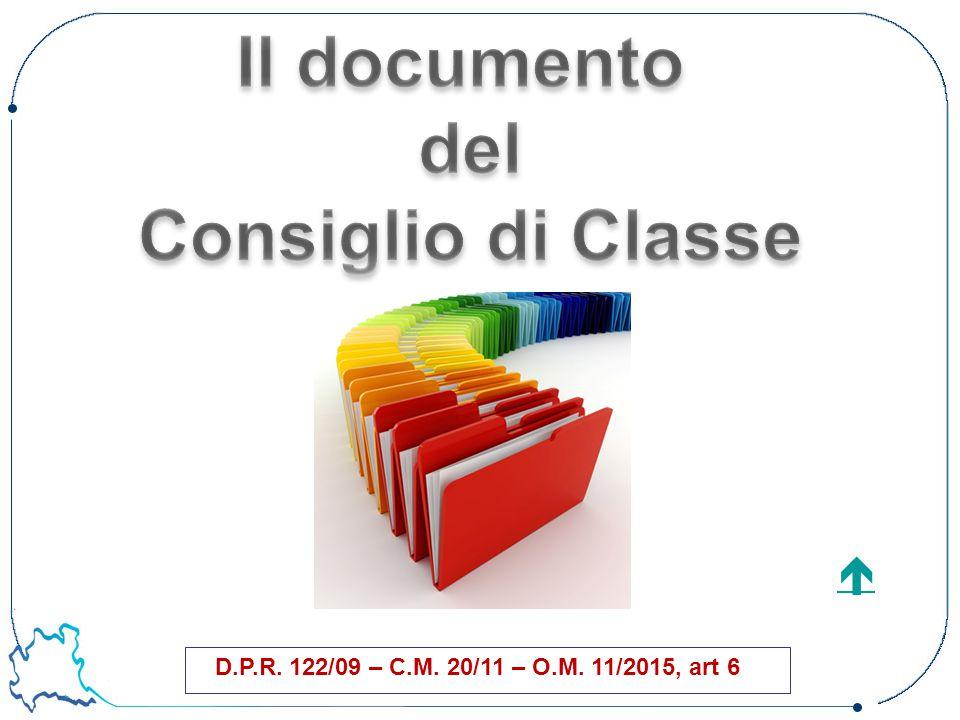 D.P.R. 122/09 – C.M. 20/11 – O.M. 11/2015, art 6 