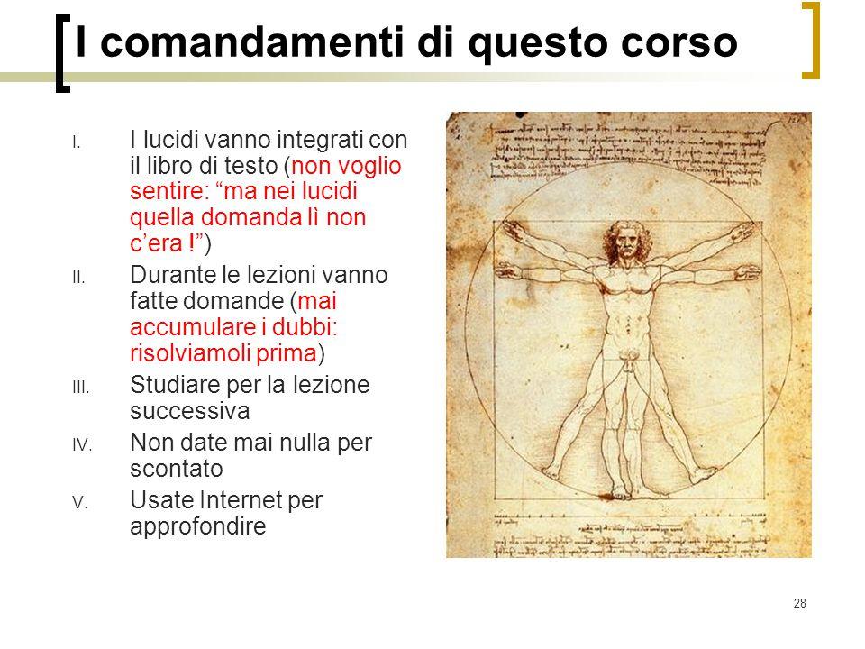 28 I comandamenti di questo corso I.