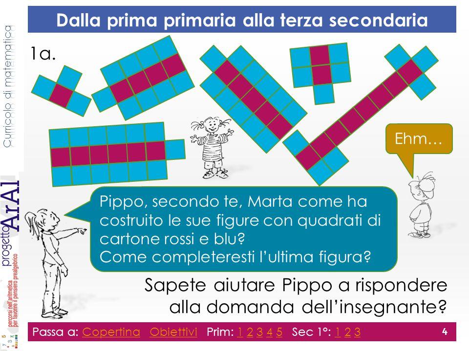 1a. Sapete aiutare Pippo a rispondere alla domanda dell'insegnante.