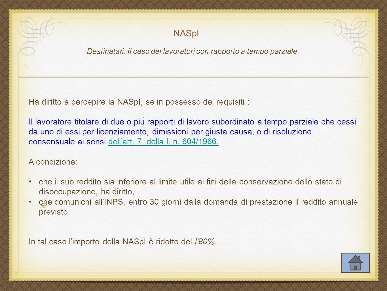 NASpI DECRETO-LEGGE 6 dicembre 2011, n.