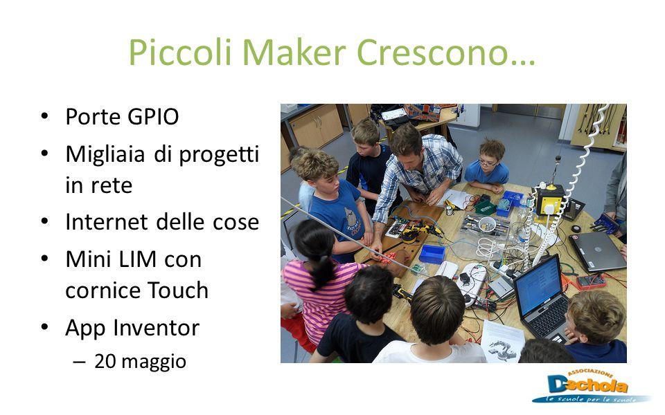 Piccoli Maker Crescono… Porte GPIO Migliaia di progetti in rete Internet delle cose Mini LIM con cornice Touch App Inventor – 20 maggio