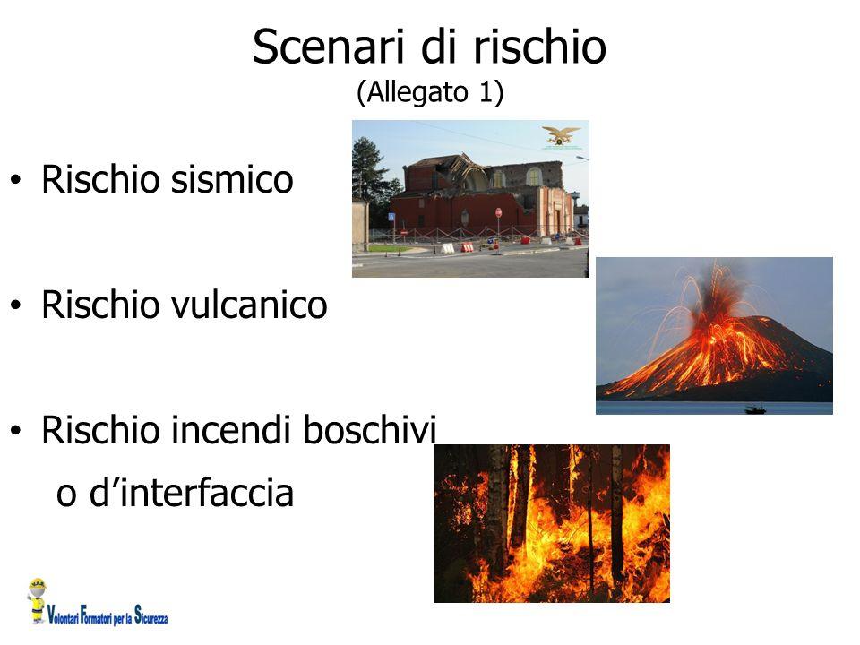 Scenari di rischio (Allegato 1) Rischio sismico Rischio vulcanico Rischio incendi boschivi o d'interfaccia