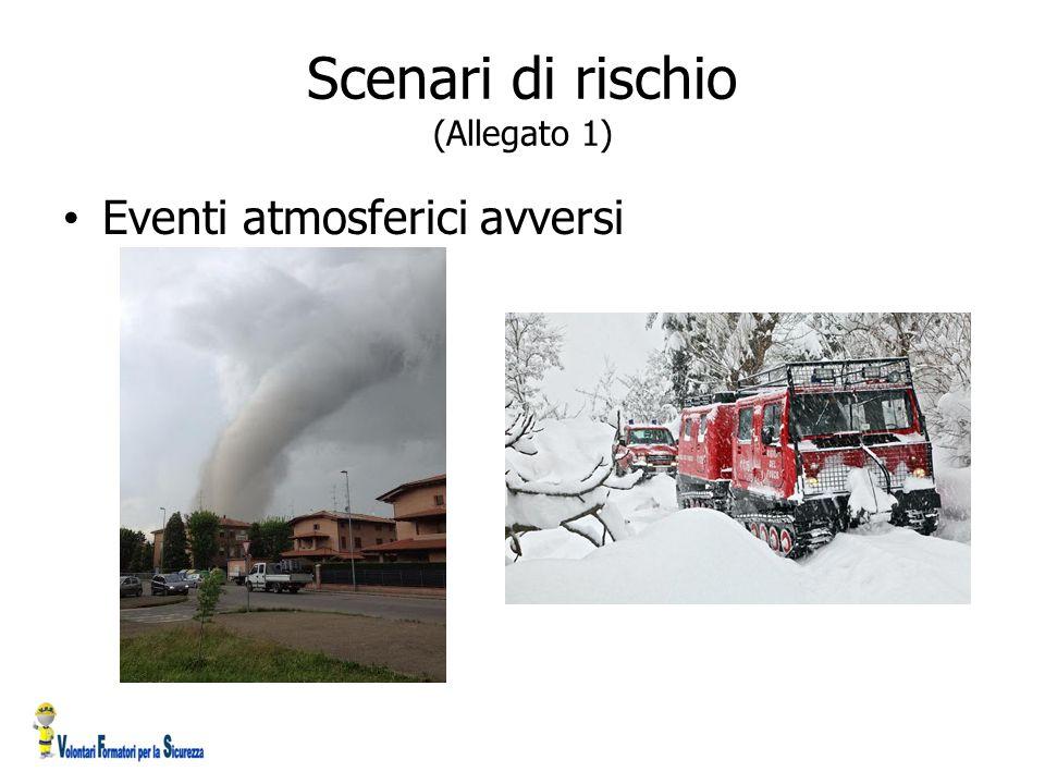 Scenari di rischio (Allegato 1) Eventi atmosferici avversi