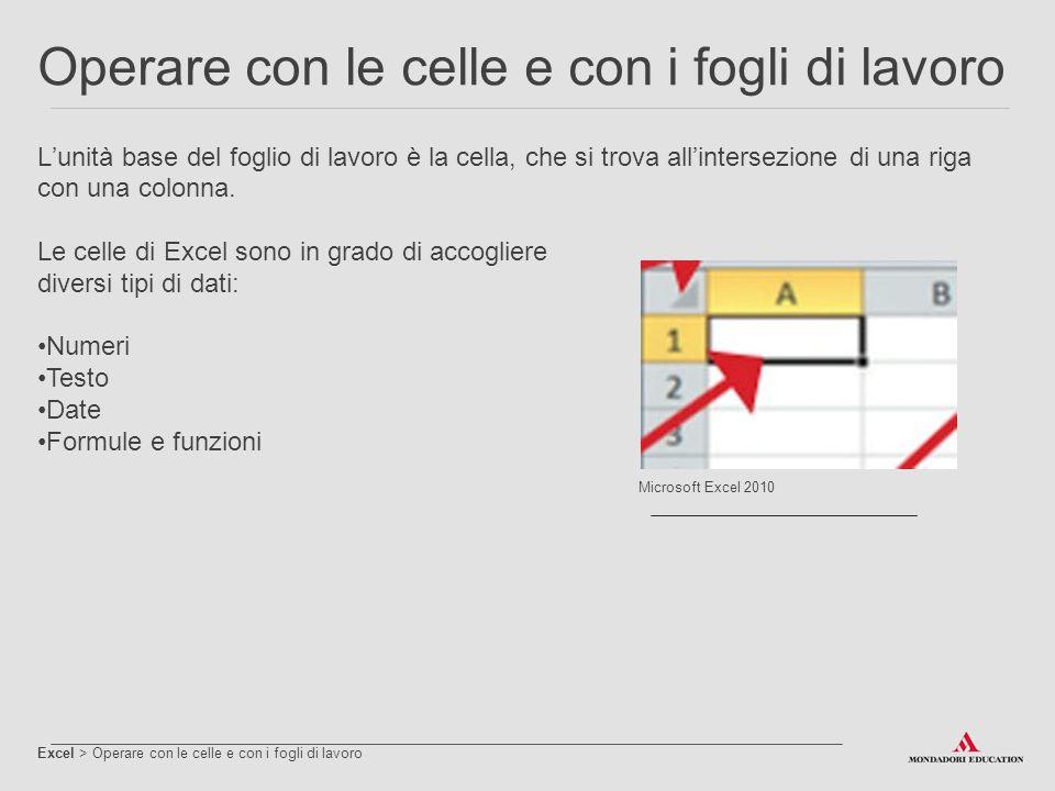 Excel > Formattare il foglio di lavoro Excel dispone di diversi strumenti per la formattazione di testo e numeri.
