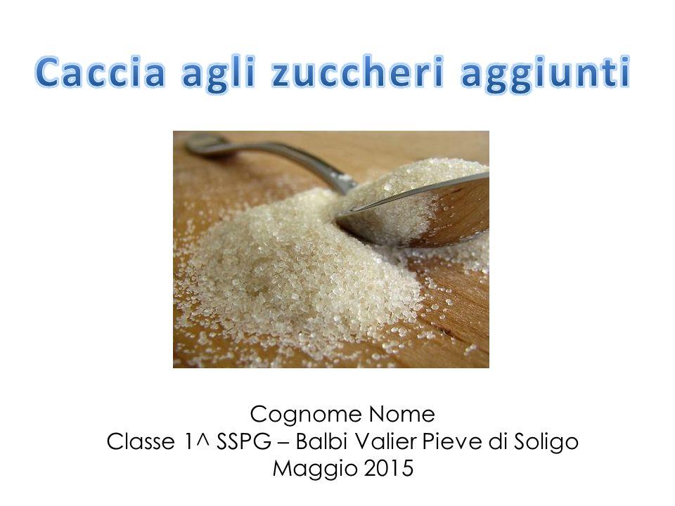 Cognome Nome Classe 1^ SSPG – Balbi Valier Pieve di Soligo Maggio 2015