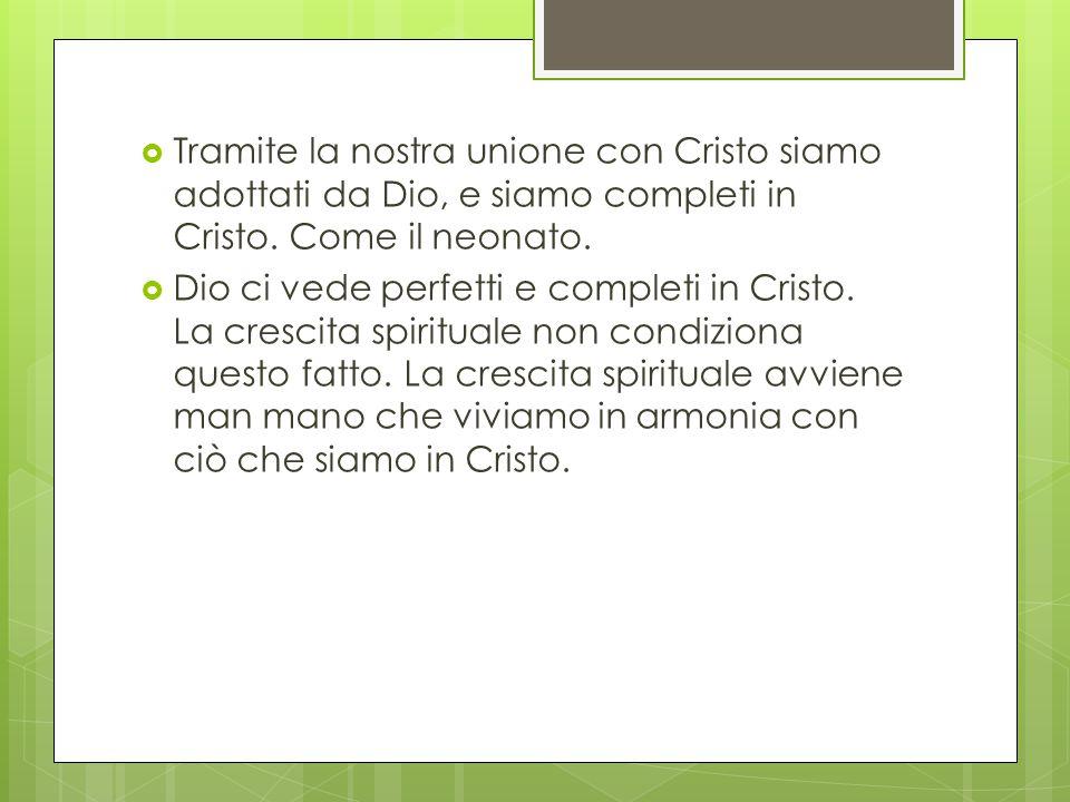  Tramite la nostra unione con Cristo siamo adottati da Dio, e siamo completi in Cristo.