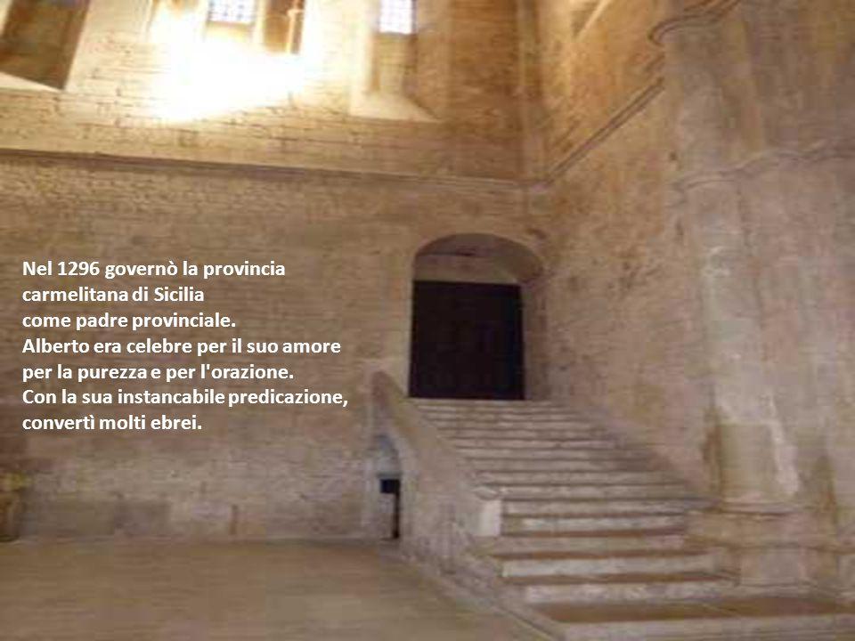 Nel 1296 governò la provincia carmelitana di Sicilia come padre provinciale.
