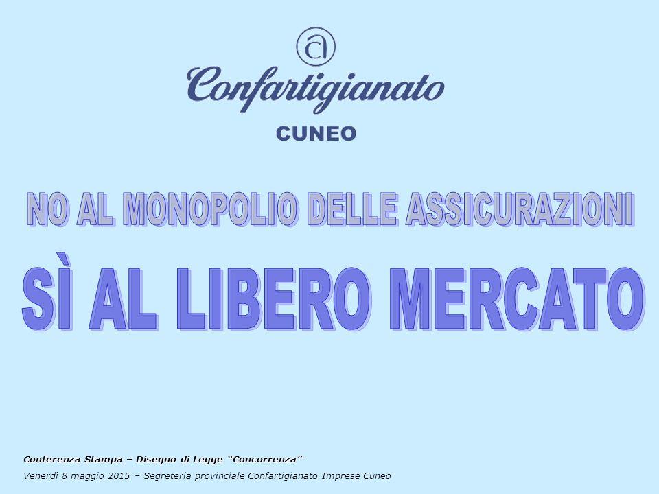 Conferenza Stampa – Disegno di Legge Concorrenza Venerdì 8 maggio 2015 – Segreteria provinciale Confartigianato Imprese Cuneo