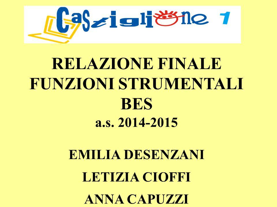 RELAZIONE FINALE FUNZIONI STRUMENTALI BES a.s.