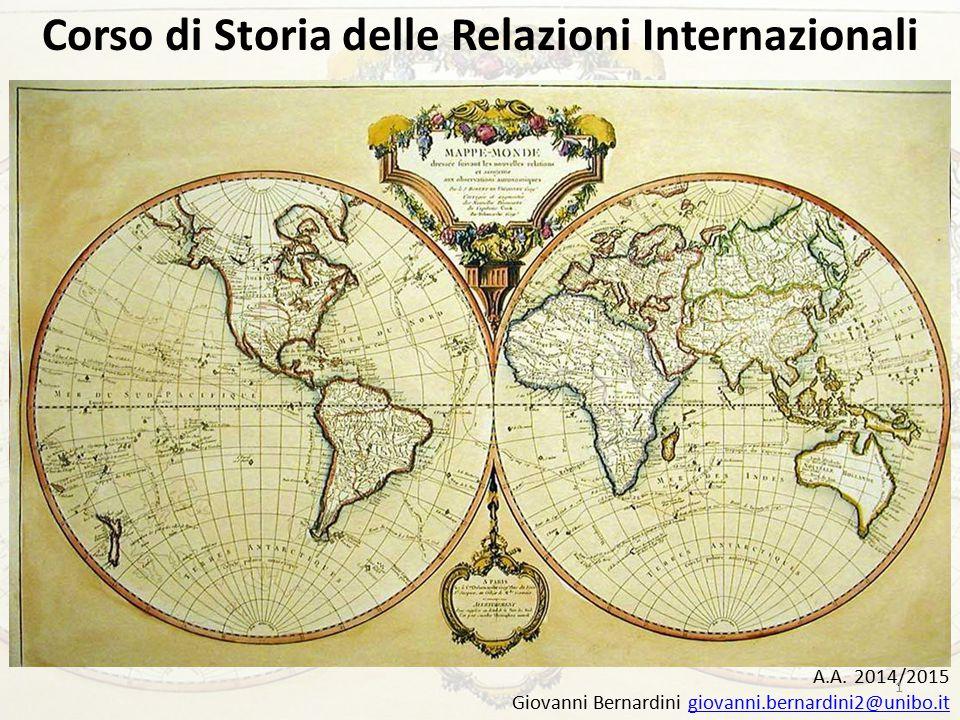 Corso di Storia delle Relazioni Internazionali A.A.