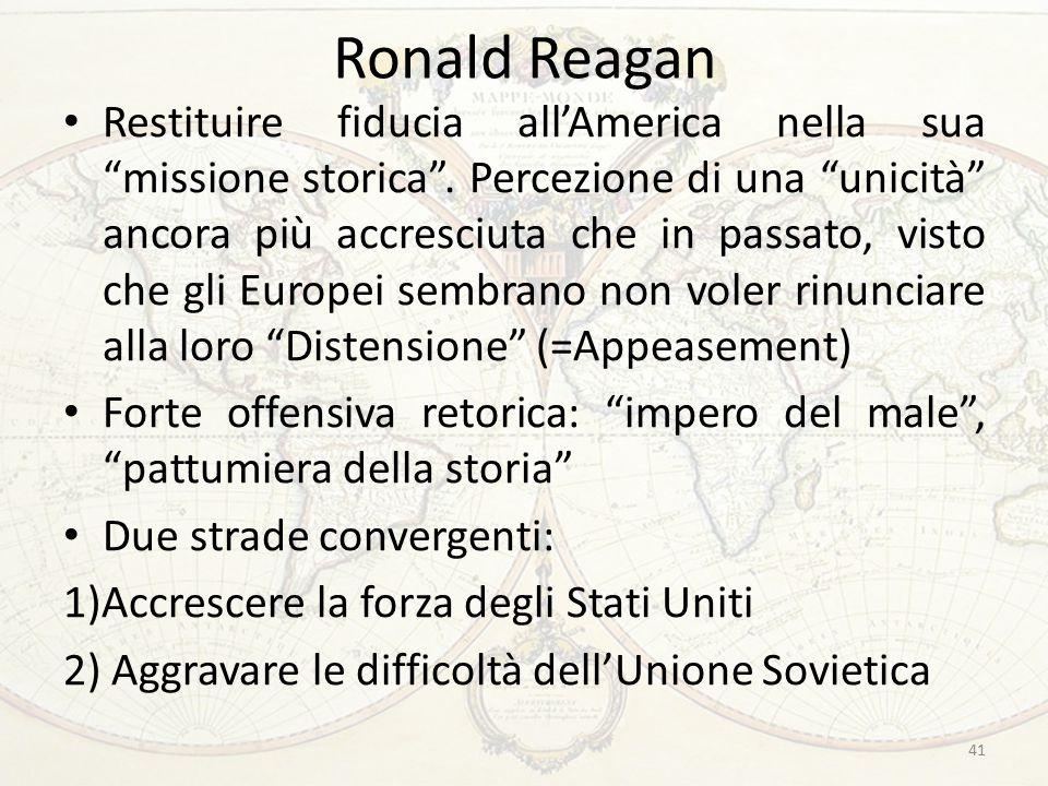 Ronald Reagan Restituire fiducia all'America nella sua missione storica .
