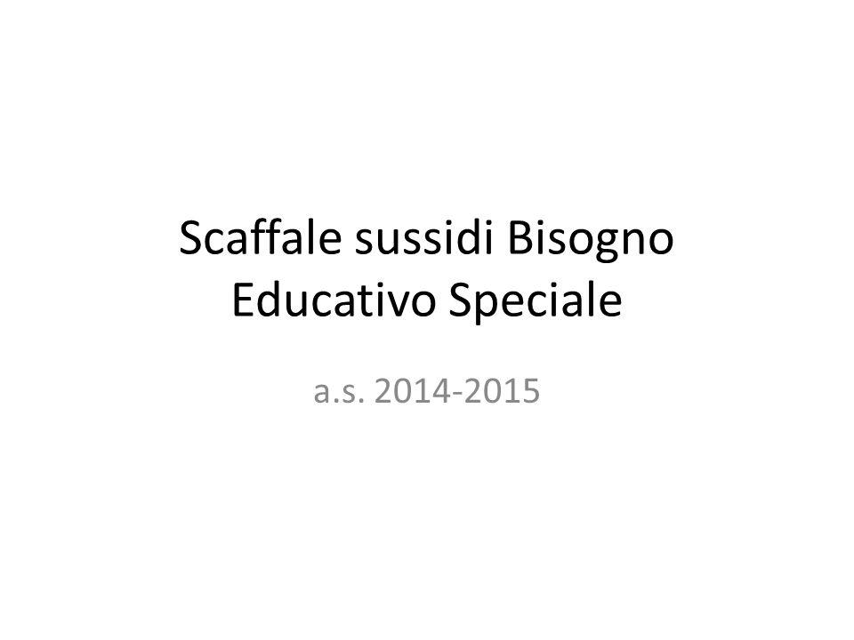 Scaffale sussidi Bisogno Educativo Speciale a.s. 2014-2015