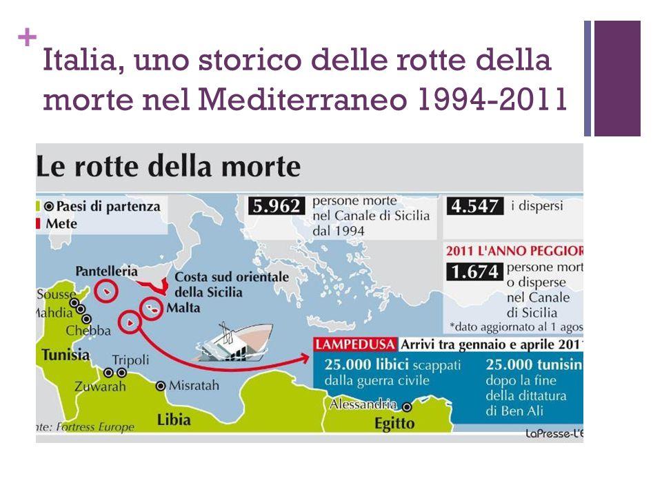 + Italia, uno storico delle rotte della morte nel Mediterraneo 1994-2011