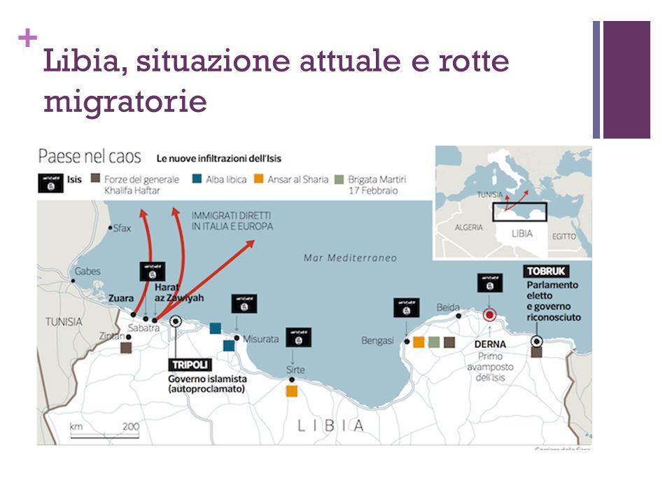 + Libia, situazione attuale e rotte migratorie