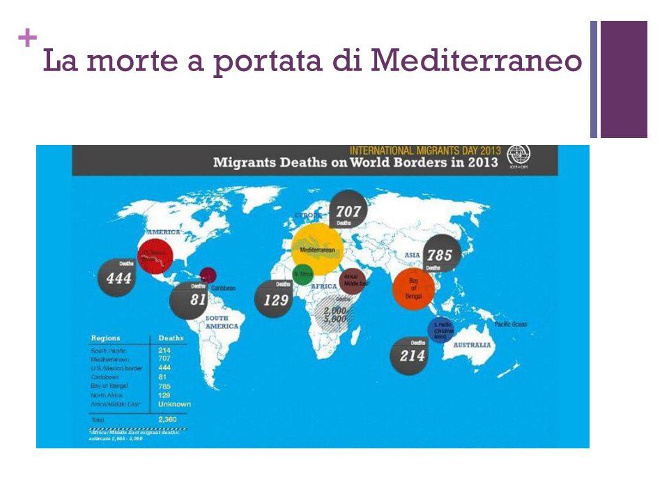 + Rifugiati in Italia ed Europa meridionale 28.700 domande di asilo presentate in Italia nel 2013 (+10.480 rispetto al 2012) L'incremento segue il trend europeo del 2013.