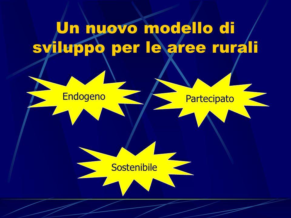 Un nuovo modello di sviluppo per le aree rurali Endogeno Partecipato Sostenibile