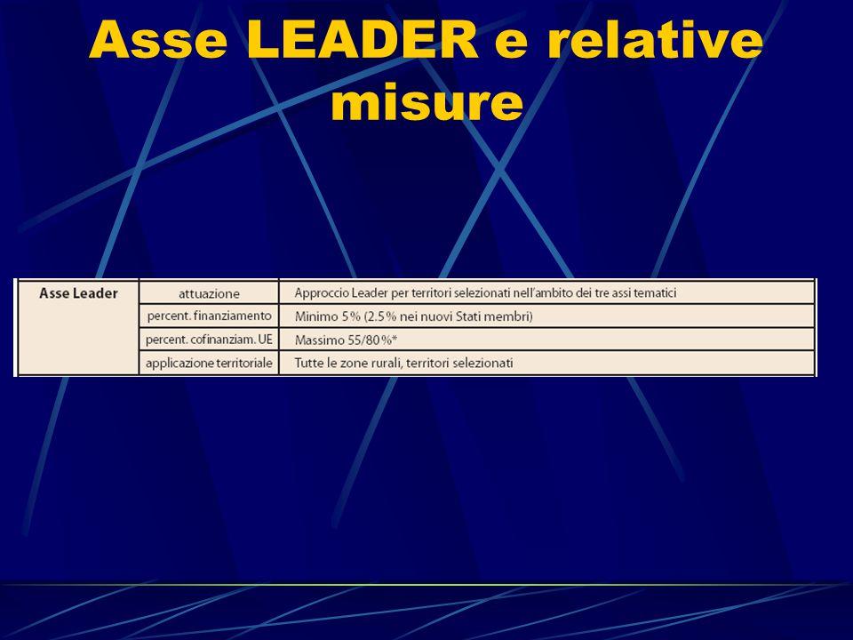 Asse LEADER e relative misure