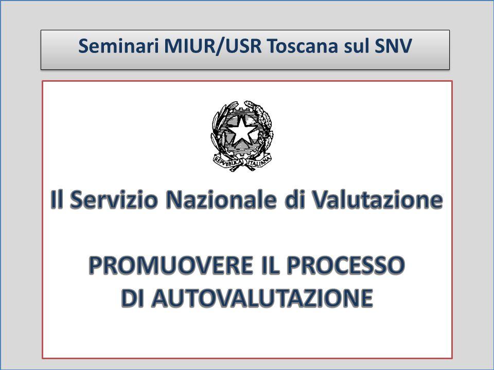 Seminari MIUR/USR Toscana sul SNV
