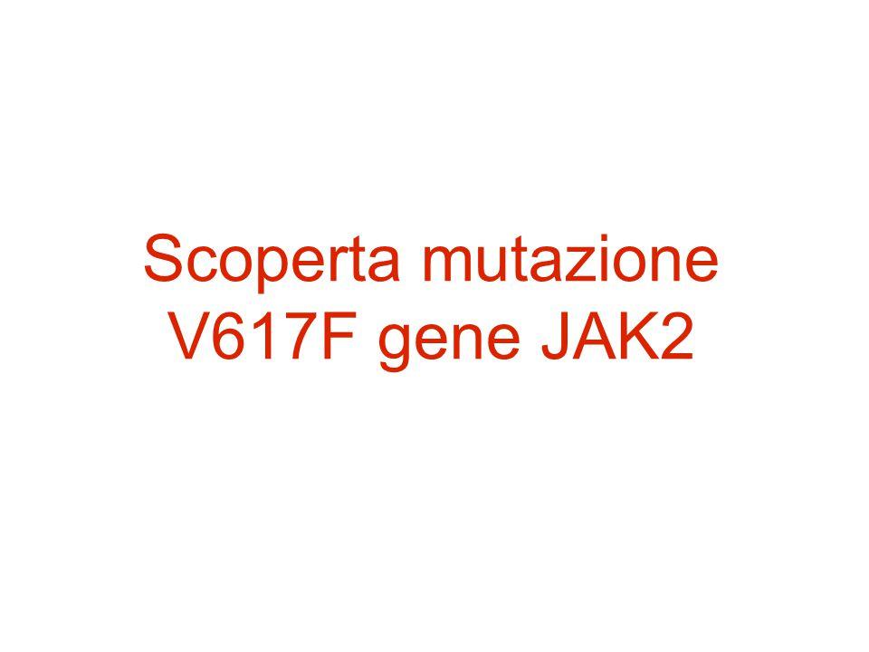 Scoperta mutazione V617F gene JAK2