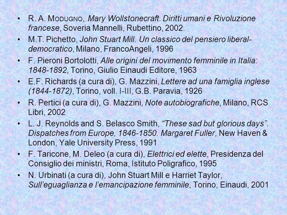 R.A. M ODUGNO, Mary Wollstonecraft.