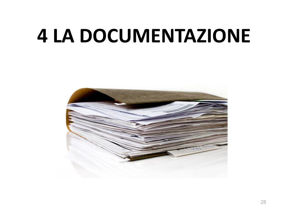4 LA DOCUMENTAZIONE 28