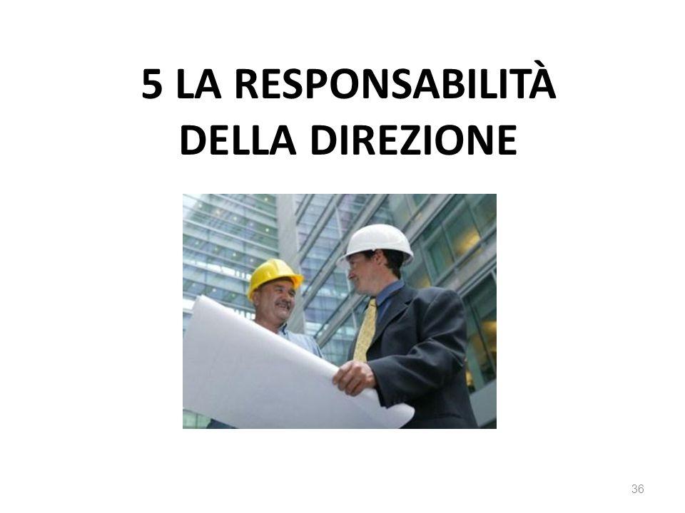 5 LA RESPONSABILITÀ DELLA DIREZIONE 36