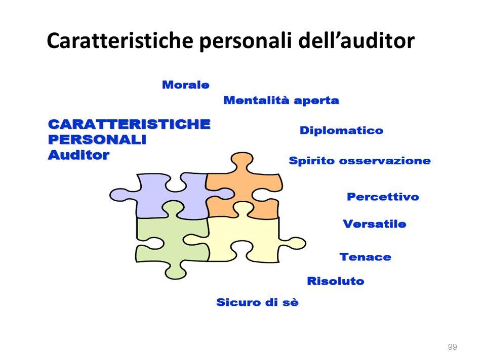 Caratteristiche personali dell'auditor 99