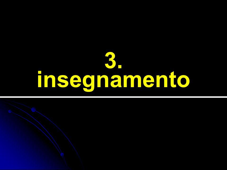 3. insegnamento