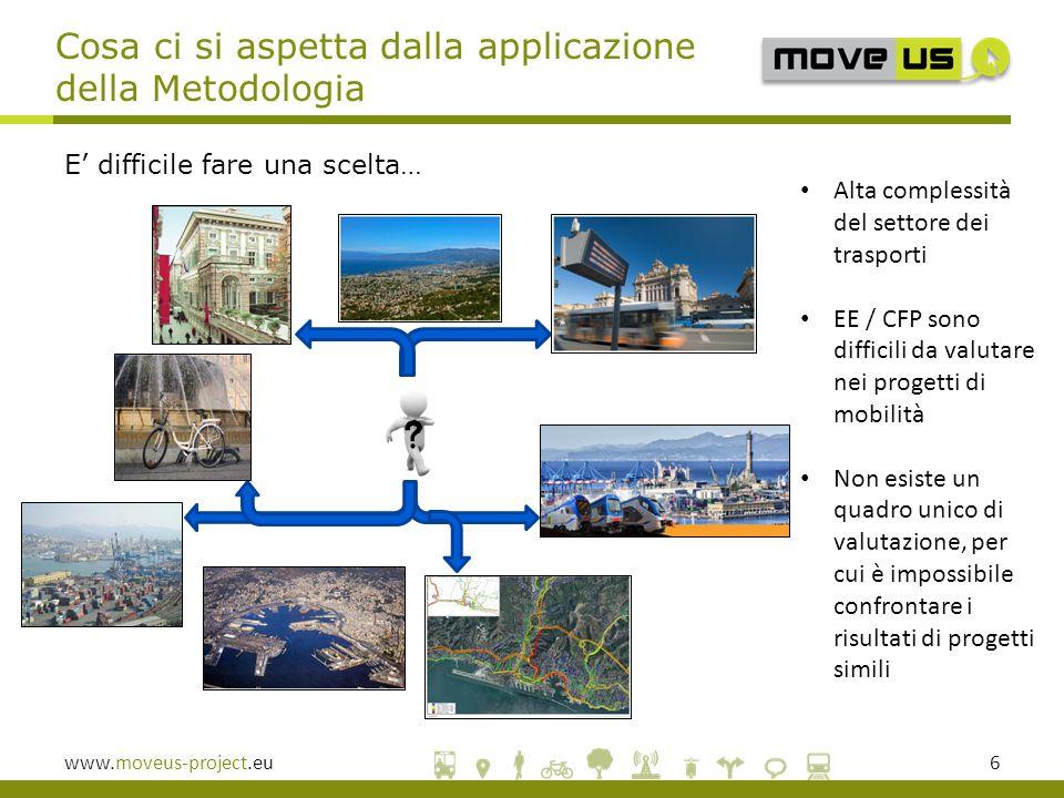 www.moveus-project.eu17  La Metodologia usata in MoveUs per la valutazione dell'EE consente di fare confronti sulle performance energetiche di differenti città appartenenti al progetto.