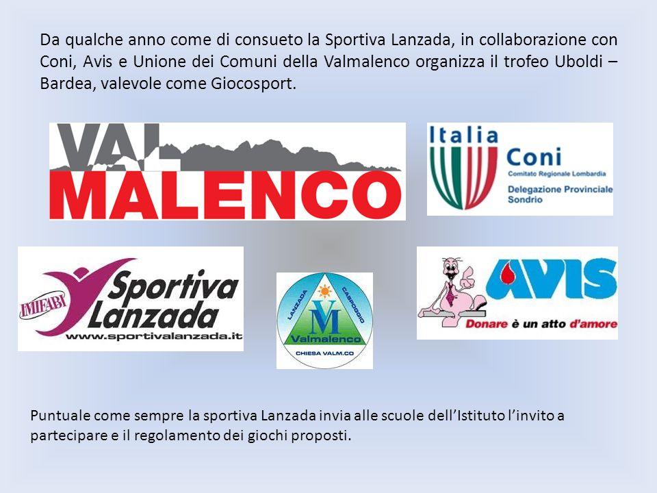 Da qualche anno come di consueto la Sportiva Lanzada, in collaborazione con Coni, Avis e Unione dei Comuni della Valmalenco organizza il trofeo Uboldi