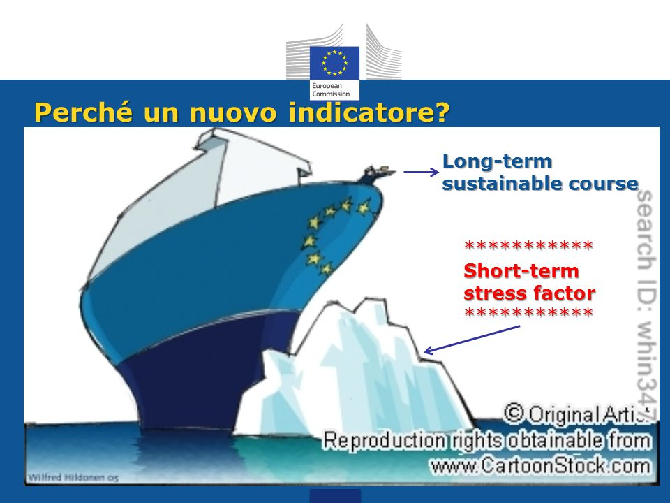 Perché un nuovo indicatore? Long-term sustainable course *********** Short-term stress factor ***********