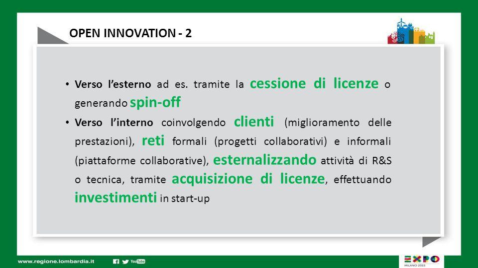 OPEN INNOVATION - 3 L'Open Innovation nasce e si sviluppa in contesto di grande azienda multinazionale Quali strumenti sono necessari perché funzioni in un contesto di piccole e medie imprese .