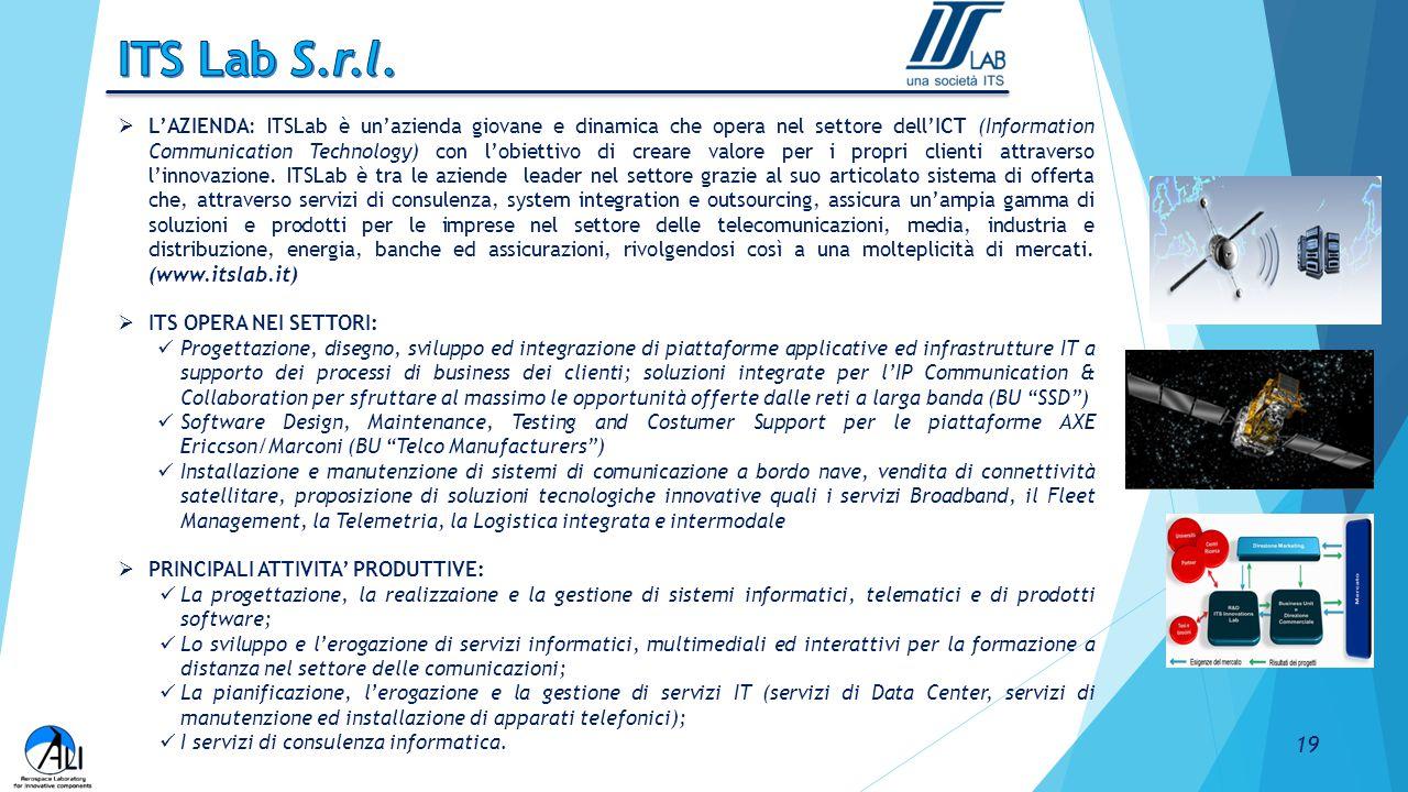  L'AZIENDA: ITSLab è un'azienda giovane e dinamica che opera nel settore dell'ICT (Information Communication Technology) con l'obiettivo di creare va