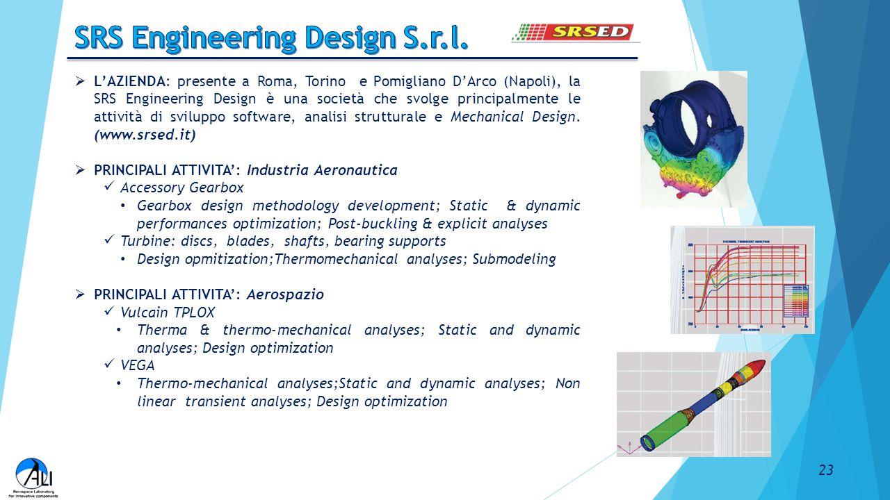  L'AZIENDA: presente a Roma, Torino e Pomigliano D'Arco (Napoli), la SRS Engineering Design è una società che svolge principalmente le attività di sv