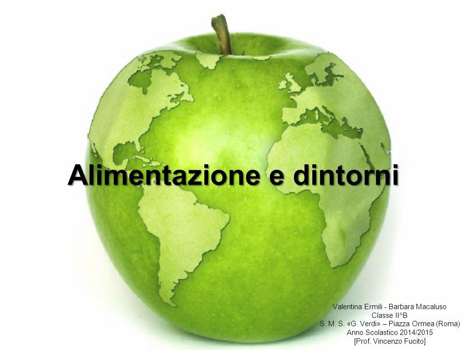 Alimentazione e dintorni Valentina Ermili - Barbara Macaluso Classe II^B S. M. S. «G. Verdi» – Piazza Ormea (Roma) Anno Scolastico 2014/2015 [Prof. Vi
