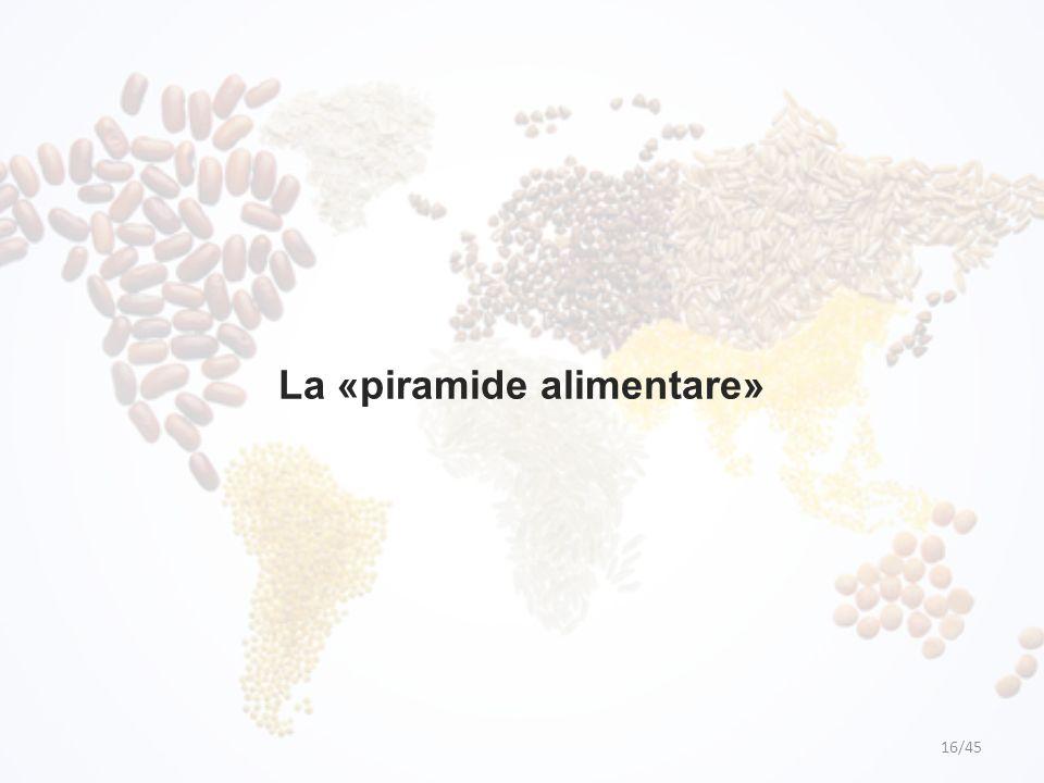 La «piramide alimentare» 16/45