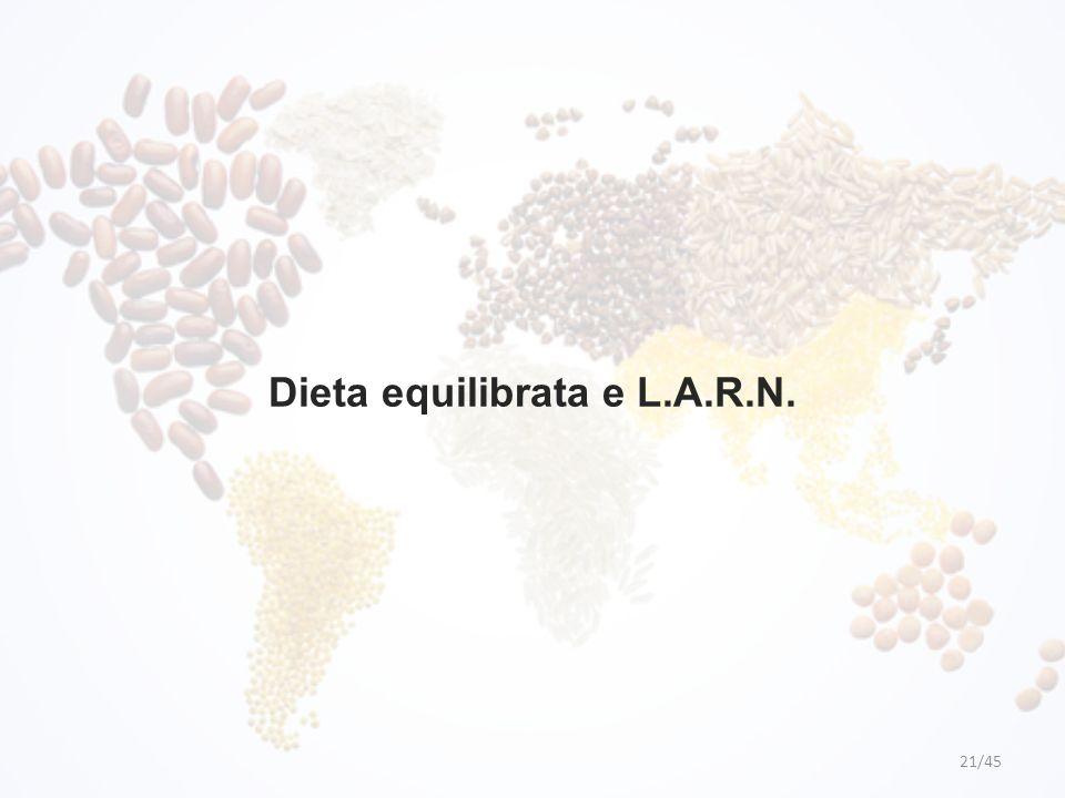 Dieta equilibrata e L.A.R.N. 21/45