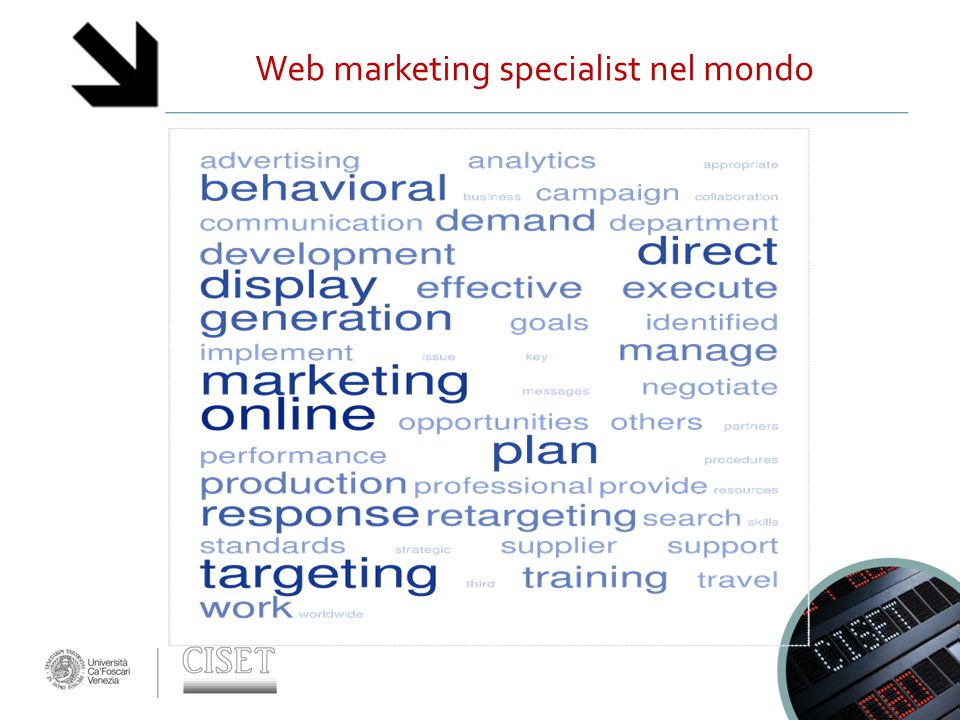 Web marketing specialist nel mondo