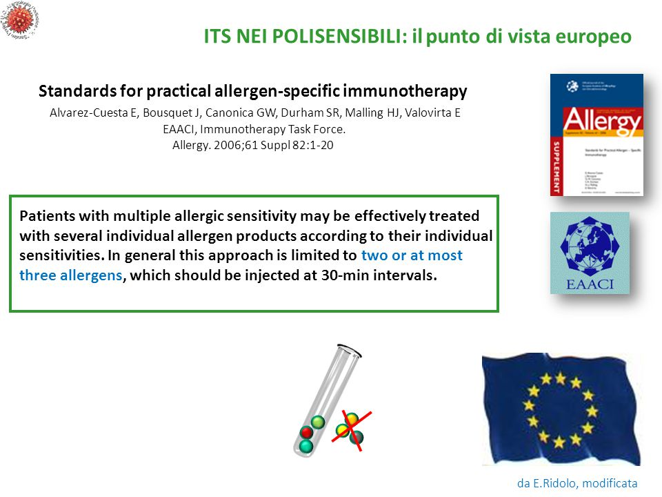 Patients with multiple allergic sensitivity may be effectively treated with several individual allergen products according to their individual sensitivities.