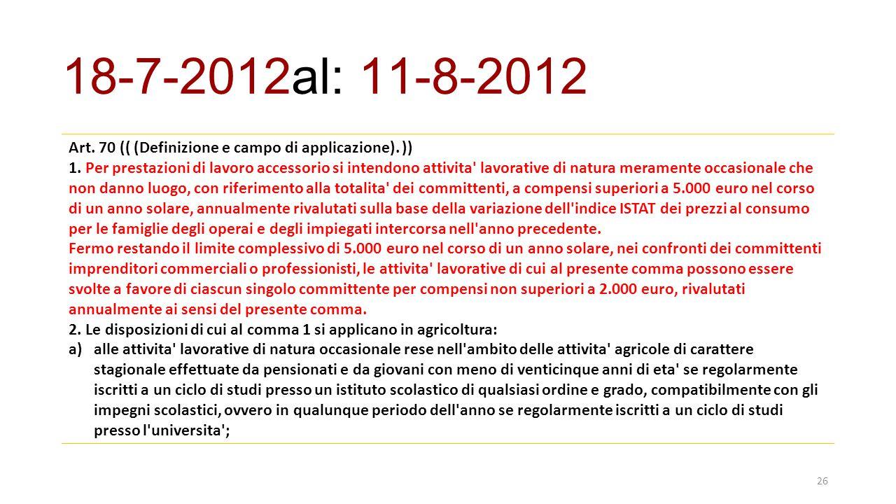 Art.70 (( (Definizione e campo di applicazione). )) 1.