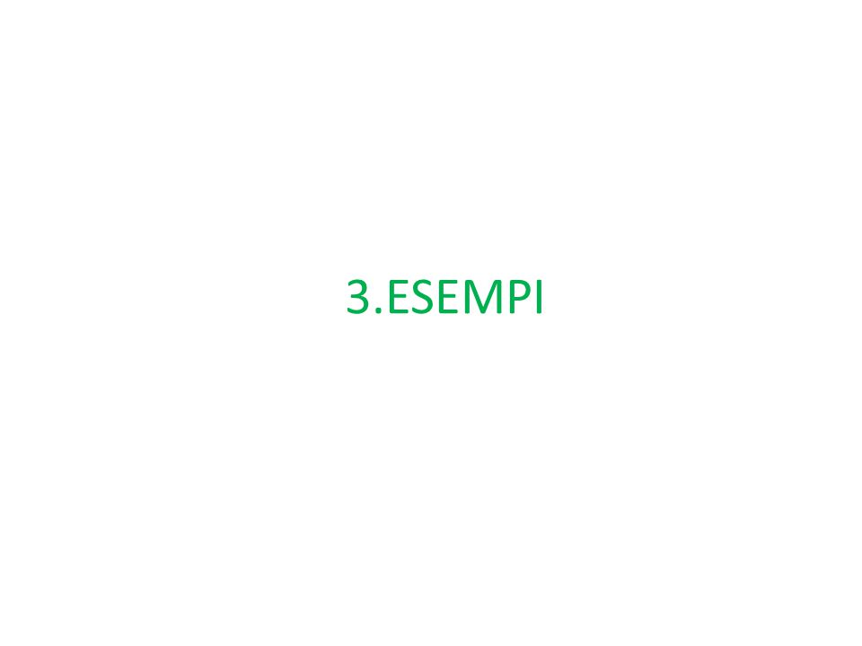 3.ESEMPI