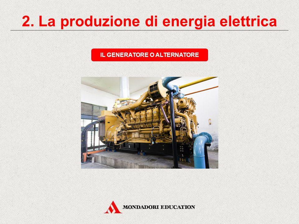 2. La produzione di energia elettrica LE TURBINE Turbina a vaporeTurbina a gas