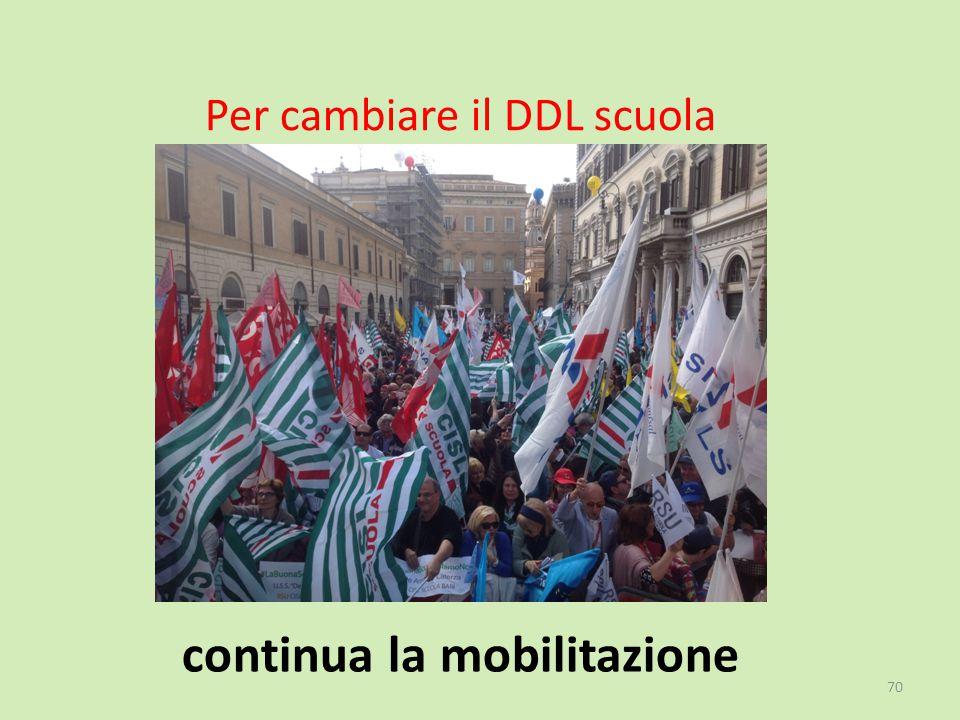 Per cambiare il DDL scuola continua la mobilitazione 70
