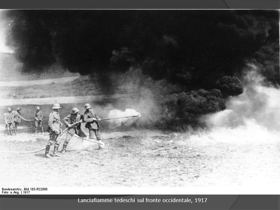 Lanciafiamme tedeschi sul fronte occidentale, 1917