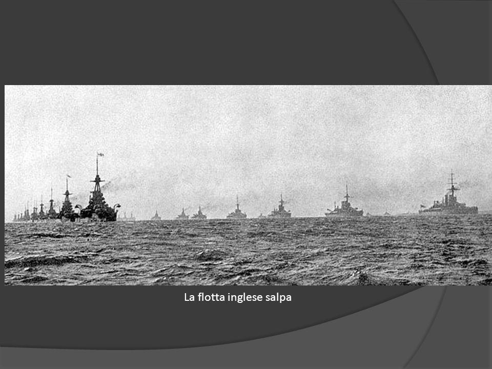 La flotta inglese salpa