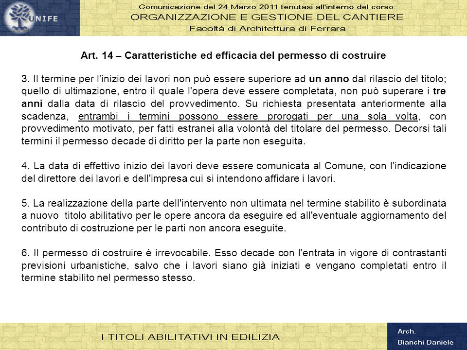RICHIESTE DI PARERI Di competenza di altre amministrazioni Parere conformità Comando provinciale VVFF Autorizzazione per interventi su beni tutelati dalla Parte II DLgs 42/2004 Nulla osta per modifica accessi su strade provinciali o statali Valutazione favorevole per VIA o procedura di screening Quando serve Interventi previsti art.