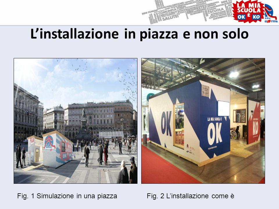 L'installazione in piazza e non solo Fig. 1 Simulazione in una piazzaFig. 2 L'installazione come è